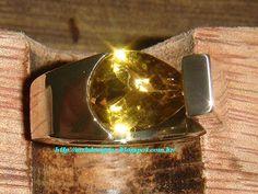 Prata 950 / Pedra Green Gold Champagne - Gota Briolet