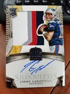 JIMMY GAROPPOLO 2014 Panini Crown Royale Patriots RC 4-COLOR Patch Auto /175 #NewEnglandPatriots