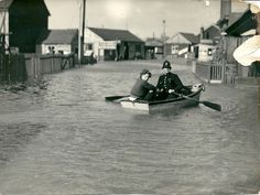 'assisting the law' get about in Benfleet, in the sea rangers dingy. The boat is in the flooded High Street close to where the taxi rank is now outside the station , at that time it was outside the photographers Shine and Holmes. Essex Police, Leigh On Sea, Taxi, Ranger, Paths, The Outsiders, Boat, Street, Scouts