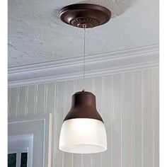It's Exciting Lighting 24-Light Bronze LED Battery Operated Ceiling Pendant with Frosted Glass Shade and 3 Stage Dimmer-IEL-5891 - The Home Depot