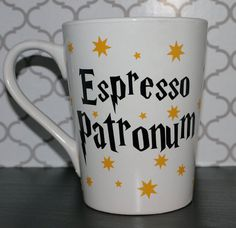 Our Patronus is a cup of coffee — how about you? | 15 Harry Potter Mugs