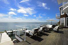 terrace modern mansion 2 Exquisite US Bayfront Estate Inspiring Positive Holiday Vibes