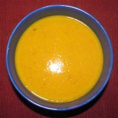 Pumpkin, Sweet Potato, Leek and Coconut Milk Soup Allrecipes.com