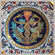 #sberna #art #pottery #ceramics #deruta #madeinitaly #love #handmade #handpainted #handcraft #colours #plate #colorful #drawing #snake #fire #flame