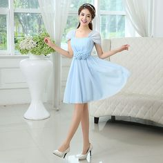 Cheap Bridesmaid Dresses on Sale at Bargain Price, Buy Quality dress bridal gown, dress france, gown bride from China dress bridal gown Suppliers at Aliexpress.com:1,Decoration:Flowers 2,Sleeve Style:Cap Sleeve 3,Item Type:Bridesmaid Dresses 4,Sleeve Length:Short 5,Silhouette:A-Line