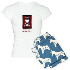 Cafepress Personalized Goth Women's Light Pajamas, Size: 2XLarge (+$3.00)