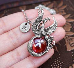 Renewal Jewelry Rebirth Jewelry Phoenix Jewelry Perseverance Jewelry Sterling Silver Phoenix Necklace Hope Jewelry