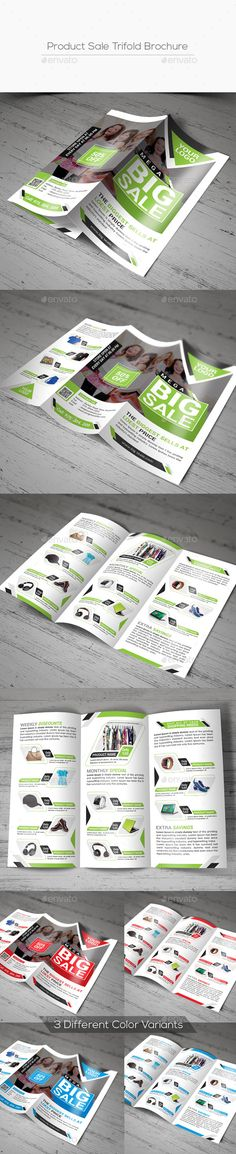Product Sale Trifold Brochure - Corporate Brochure Template PSD. Download here: http://graphicriver.net/item/product-sale-trifold-brochure/16700424?s_rank=110&ref=yinkira
