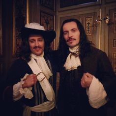 RunyanTygh with an extra (Clément Gueny) on the filming of Season2 of Versailles.