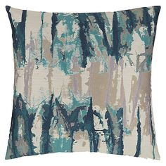 Buy Harlequin Takara Cushion, Teal / Ink from our Cushions range at John Lewis.