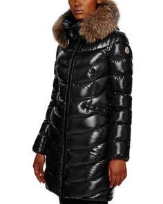Moncler Aphia Fox Fur Hood Long Down Coat   Bloomingdale's