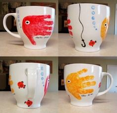 Father's Day handprint gifts: mugs