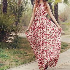 Lovely floral maxi dress.