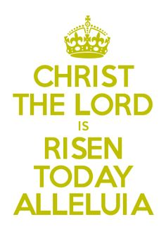 CHRIST THE LORD IS RISEN TODAY ALLELUIA
