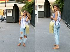 Amy Ramírez - Zara Top, Pull & Bear Jeans, Marypaz Sandals - Must have:  Ripped jeans