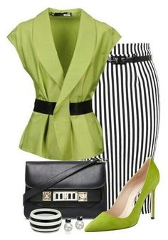 Pencil Stripes x Work Fashion, Fashion Looks, Fashion Tips, Classy Outfits, Stylish Outfits, Elegantes Outfit, Complete Outfits, Mode Outfits, Fashion Dresses