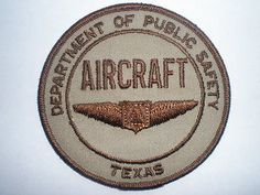 TX-Texas-Highway-Patrol-State-Police-AIRCRAFT-vintage-patch-DPS-Aviation-Air
