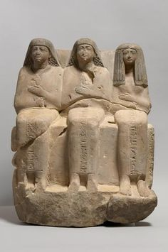 Sculpture of Meri-ptah, the Sa-asset and Kafi     19th Dynasty, reign of Ramesses II, 1304-1237 BC