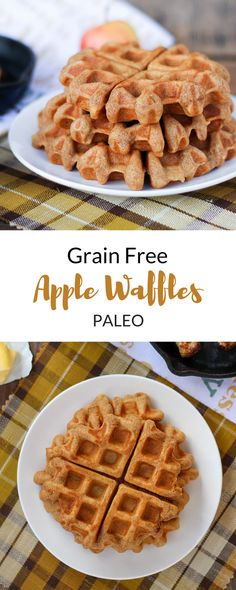 Grain Free Apple Waffles (Paleo)