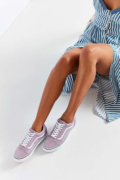 8bbf7d7e03d5a7 Slide View  1  Vans Lilac Old Skool Sneaker Van Trainers