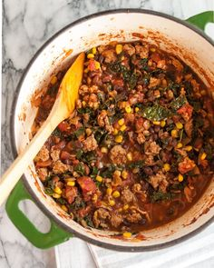 This turkey chili is one of my favorite recipes, and not just because I've made it a hundred times (at least). It was one of the first things I created on my own, starting with a version I made in my first minuscule apartment in New York City ten years ago. It has evolved over the years, but this is the recipe I've stuck with for quite some time — I just wanted to wait for the perfect winter day to share it.