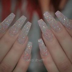 Cool Coffin Shape Nails Designs to Copy in 2017 ★ See more: naildesignsjourna. - Cool Coffin Shape Nails Designs to Copy in 2017 ★ See more: naildesignsjourna… - Aycrlic Nails, Manicures, Cute Nails, Pretty Nails, Nails 2016, Summer Acrylic Nails, Best Acrylic Nails, Acrylic Nail Designs, White Acrylic Nails With Glitter