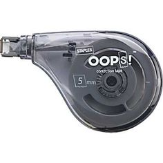 I LOOOVE THESE !!!!! I got a 5-pack and they were all different colors !!!!!!!!!!!   Staples® OOPS!™ Sidewinder Correction Tape, 2/Pack