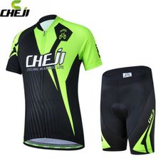 CHEJI 2017 Children Cycling Jersey Short Sleeve Jersey Ropa Ciclismo Bike Bicycle Clothing For Spring Summer Autumn CC0416