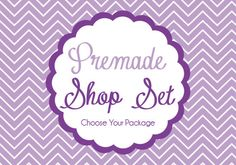 PURPLE CHEVRON Etsy Shop Banner Package -- by PixelBerryPieDesigns