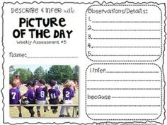 """DESCRIBING & INFERRING DETAILS WITH PICTURE OF THE DAY: READING PHOTOS """"CLOSELY"""" - TeachersPayTeachers.com"""