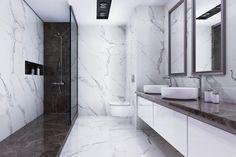 Beautiful bathroom floors in marble tiles Gorgeous marble tile bathroom flooring ideas - Marble Bathroom Dreams Black Marble Bathroom, Marble Tiles, White Marble Flooring, Bad Inspiration, Bathroom Inspiration, Bathroom Design Luxury, Bathroom Pictures, Bathroom Ideas, Minimalist Bathroom