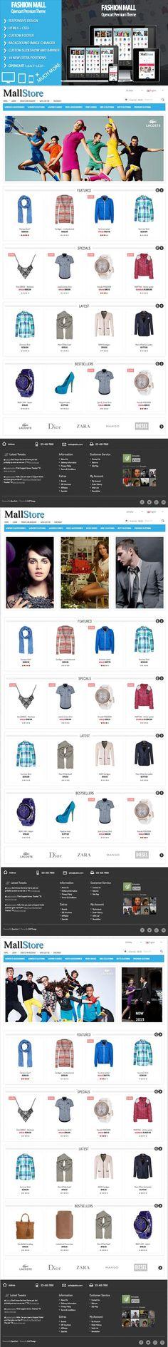 Fashion Mall Responsive. Bootstrap Themes. $25.00