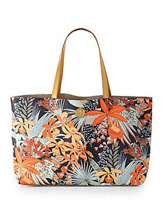 Tory+Burch Kerrington+Printed+Coated+Canvas+Tote. I'm not a tote kind of girl, but maybe as a diaper bag? Pretty print for sure.
