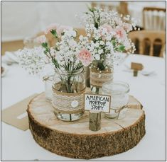 45 chic rustic wedding centerpieces with tree stumps page 7 | Armaweb07.com