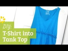 How to cut a T-shirt into a tank top with braided empire waist ✂ This DIY makes a nice work-out tank top for summer, to wear over swim suit or a bandaue.