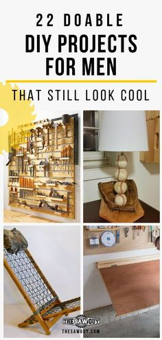 22 doable diy projects for men that still look cool diy man Diy Crafts For Adults, Diy Crafts To Sell, Home Crafts, Diy Home Decor, Projects For Adults, Sell Diy, Diy Wood Projects For Men, Man Projects, Diy Organizer