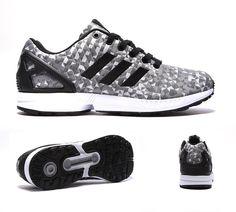 adidas Originals ZX Flux Weave Trainer | White / Black / Grey | Footasylum
