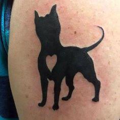 Pitbull With Heart Tattoo Idea Bull Tattoos, Head Tattoos, Body Art Tattoos, Nice Tattoos, Dallas Tattoo, Hip Tattoo Small, Small Tattoos With Meaning, Heart Tattoo Designs, Creative Tattoos