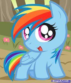 My Little Pony Rainbow Dash | How to Draw Chibi Rainbow Dash, Chibi Rainbow Dash, My Little Pony ...