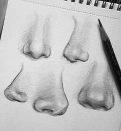 10 Amazing Nose Drawing Tutorials & Ideas 10 illustrated nose drawing ideas and inspiration. Learn how you can draw noses step by step. This tutorial is perfect for all art enthusiasts. Learn more. Pencil Art Drawings, Art Drawings Sketches, Realistic Drawings, Cool Drawings, How To Draw Realistic, Amazing Drawings, Drawings And Illustrations, Sketch Art, How To Shade Drawings