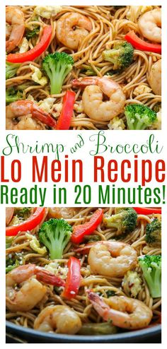 20-Minute Shrimp and Broccoli Lo Mein, because let's be real, sometimes we just need a quick and tasty, noodle dish. Loaded with juicy shrimp, crunchy broccoli, and so much flavor. #lomein #shrimpandbroccolilomein #shrimplomein #shrimpandbroccoli #asian #takeoutfakeout #easylomein #weeknightmeals #shrimp #broccoli