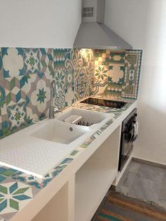 The handmade cement tiles of the Odysseas series are made by traditional technique. Each tile is manufactured individually. All the designs can be made, on request, in any color you wish. Features - dimensions: 20x20, Thickness 1,7cm #mosaic #cement #tiles #patchwork #mix #match #mosaictiles #kitchen #kitchentiles #handmade #odysseas #tsourlakis #tsourlakistiles