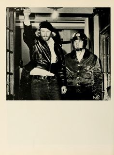 Athena Yearbook, 1972. Man protesting the presence of ROTC on campus. :: Ohio University Archives