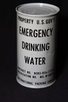 Emergency Drinking Water / http://edmontoncivildefencemuseum.com