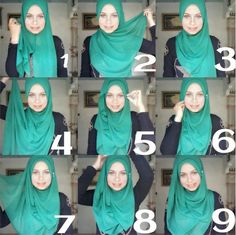 This hijab tutorial is so easy, simple and looks classy, it's secure and covers the chest. Here are the steps to get it done 1- place hijab on your head with equal sides (maybe one more longer than the other)…