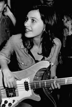 Kira Roessler, bassist for Black Flag (replacing Chuck Dukowski), circa 1984, backstage. - Imgur