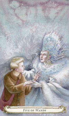 5 de bâtons - Le conte de fées de Tarot par Lisa Hunt