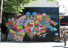 KENOR http://www.widewalls.ch/artist/kenor/ #streetart #urbanart #graffiti  Zosen + Göla + Kenor + H101, Paris - unurth | street art