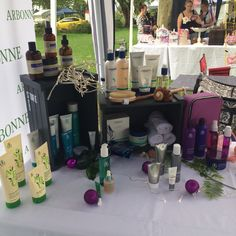 Arbonne product display December 2014