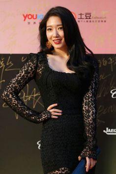 Park Shin-hye at the 17th Shanghai International Film Festival in June 2014...
